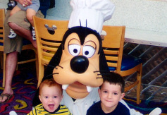The boys and Goofy